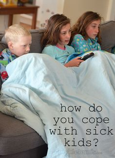 How do you cope with sick kids? Here's 8 ways we manage sick kids and I'd love to hear your tips too.
