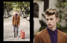 Brown Sports Jacket + Violet Polo = Genius. check sm-youth.com for more young men's fashion editorial @SM_Youth