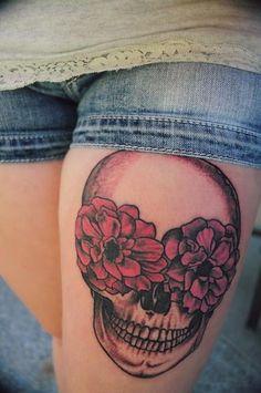 Skull Tattoo Designs for Women