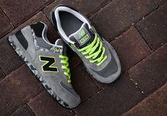 New Balance 574 – Grey Camo & Neon
