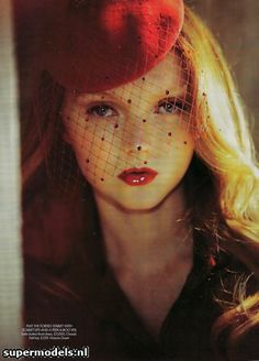 Supermodel Lily Cole model, fashion, ginger, veils, vintage, lili cole, lily cole, red hats, redhead