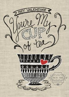 FREE printable TEA Valentine's Printable - Fancy That Design House & Co.