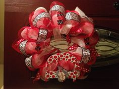 Deco mesh valentines wreath!