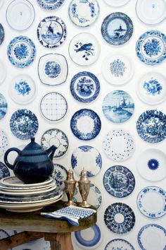 blue plates collection
