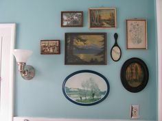 thrift store art collection by littlebyrdvintage