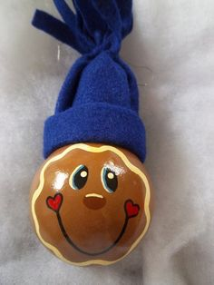 Hand Painted Gingerbread Man Christmas by GingerbreadGumdrops, $7.00 light bulb inspiration