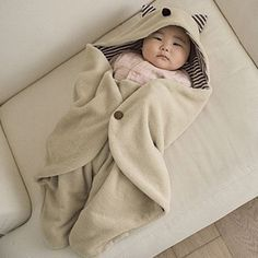 little baby sleeping bag. (there's a tail too!)
