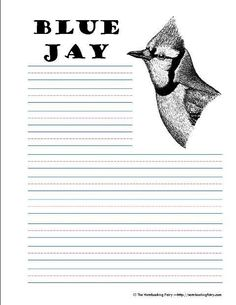 free printable blue jay notebooking pages