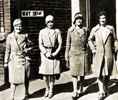 Although women over 30 had been allowed to vote since 1918, Universal Adult Suffrage didn't arrive until 1928. Here is a group of women, between the ages of 21 and 28, trooping down to the polling station in Stepney, East London, to vote for the first time - 1929.    Here's my question - Universal meaning all women or Universal meaning all white, English women? Time for some research.