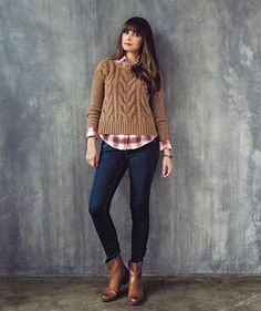 Casual Winter Outfit: The Chunky Sweater