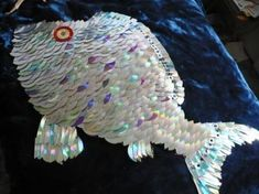 Recycled CD fish art