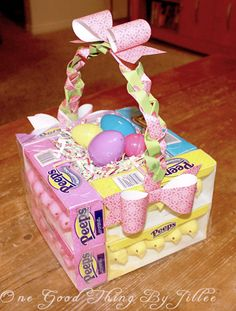 How To Make An Edible Easter Basket! No storage required. :-)