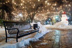 Snowy Night, Boston, Massachusetts photo via dana