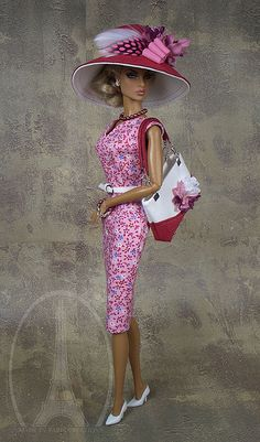 """""""Garden Delight"""" (Pink Ensemble) Fashion Outfit by MADE in PARIS Creations by MADEinPARIS, via Flickr"""