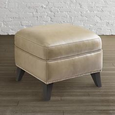 Barrett Leather Ottoman by Bassett Furniture bassett furnitur, barrett leather, room furnitur, lauri choic, live room, leather ottoman
