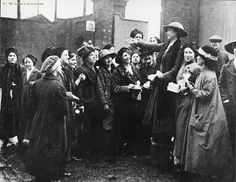 A meeting held outside the Morton factory gates
