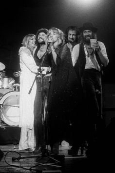 Stevie and the gang in 1977 (Rumours Tour)