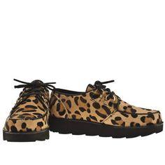 Women's Beige & Brown Bronx Fallon Brothel Creeper Leopard at Schuh