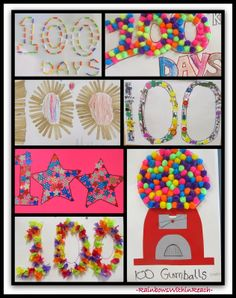 Family Homework Projects for the 100 Day Party in Kindergarten via RainbowsWithinReach