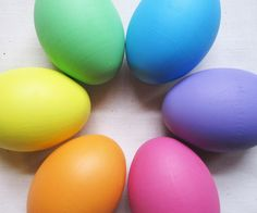 Wooden Easter Eggs Rainbow Pastel colors by ImaginationKids