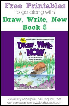 Free Printables to go along with the Draw, Write Now book 6 {themes include: Animals & Habitats – On Land, Ponds & Rivers, Oceans}  Created by @{1plus1plus1} Carisa with permission from www.barkercreek.com