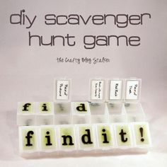 DIY Scavenger Hunt Game by The Crafty Blog Stalker