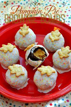 Pumpkin Pie Brownie Bombs