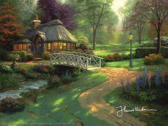 Thomas Kinkade - Friendship Cottage  2004