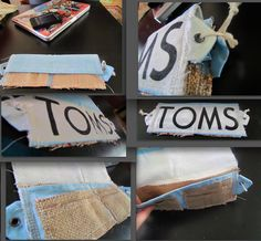 TOMS DIY wallet, made from a tom's flag and empty rice bag, no template, my own design.