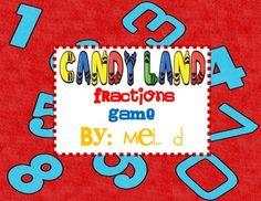 Reading Month Theme candy land | Candy Land Fractions Game