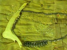 Hunter Princess Jawbone Crystal neckpiece  by gigideluxe on Etsy, $175.00