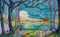 Storybook Cottage Series Winter Moonrise