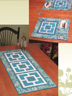 Quilting - City Squares Runner & Place Mats - #REQ0192