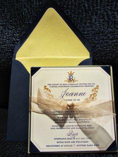 2 Hearts B 1 Designs: A Royal Baby Shower Invitation  #baby #babyshower #royal