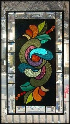 Floral Splendor Stained Glass Window Panel