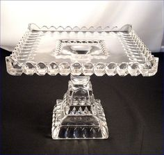 1890's Crystal Wedding Cake Stand