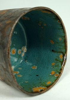 stoneware spotted cup - by olialamar1
