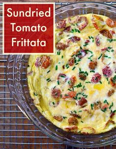 Sundried Tomato Frittata | Real Food Real Deals