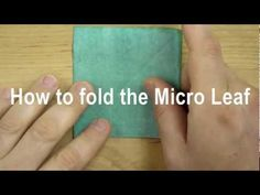 How to Fold the Micro Leaf for Origami Bonsai