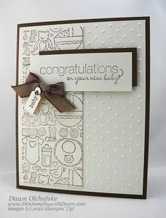 new babies, card idea, stamp sets, new baby cards, dawn olchefsk