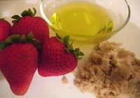 Strawberry foot scrub recipe