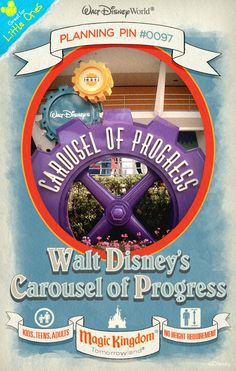 Walt Disney World Planning Pins: Walt Disney's Carousel of Progress