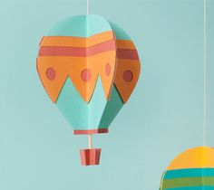 Make It Now With Cricut Explore |  Hot Air Balloon Mobiles  *Easy No - Fail Crafting Every Time