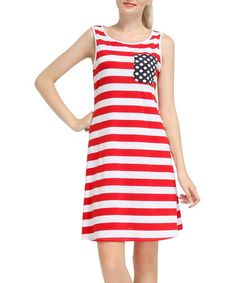 This Red & White Stripe Sleeveless Dress is perfect! #zulilyfinds