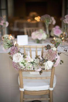 chair sash alternative - floral garland
