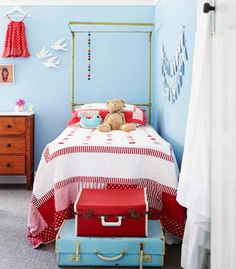 blue & red kid's room