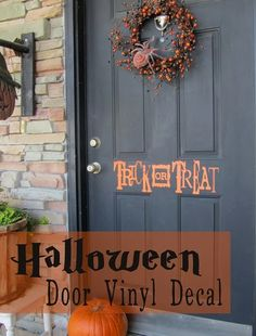 halloween idea, poppi seed, halloween time, door vinyl, front doors