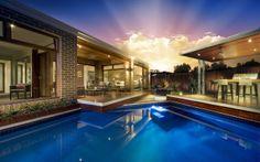 idea, garden design, outdoor rooms, dream, new homes, design inspir, hous, alfresco area, outdoor pools