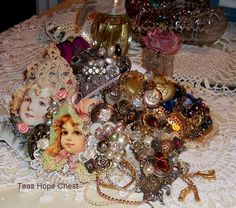 Vintage pins   http://teashopechest.blogspot.com//