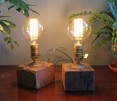 Simple rustic table lamp - rustic - Table Lamps - Montreal - AES Mobile Studios